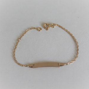 Bracelet Identité Enfant Or 750 18K 14.5cm 1.99grs