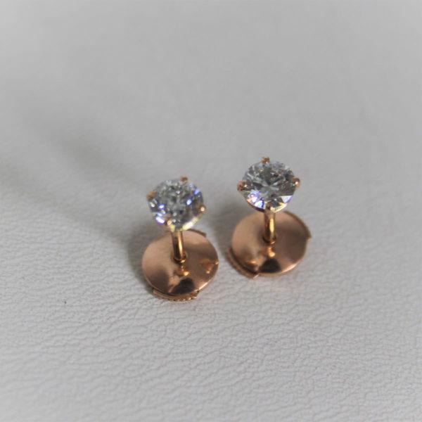 Boucles d'Oreilles Clous Diamant 0.80 carats