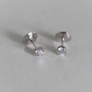 Boucles d'Oreilles Or 18k Clous Diamants 0.40 carats