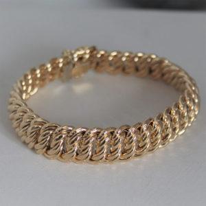 Bracelet Or 18k 750 Maille Américaine - 24.95grs