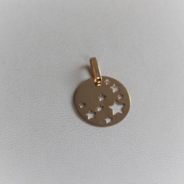 Médaille or jaune 18k diamètre 16mm