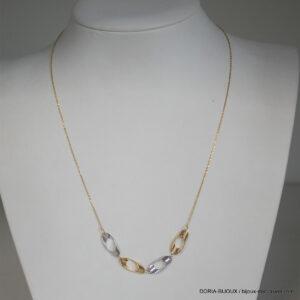 Collier or bicolore 18k 750/000 - 2.10grs - 42cm