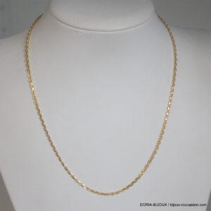 Chaîne forçat diamantée or jaune 18k 750  - 7.05grs