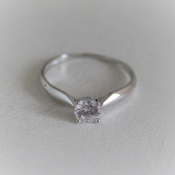 Bague solo oxyde or blanc 18k 750 - 54 - 1.25
