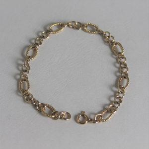 Bracelet  Or  Jaune 18k 750 - 17cm -2.9grs