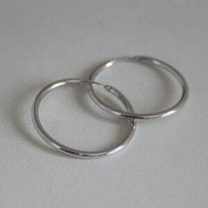 Créoles or gris 18k, 750/000 - 1.8grs