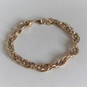 Bracelet  Or  Jaune 18k 750 - 20.5cm -9.9grs