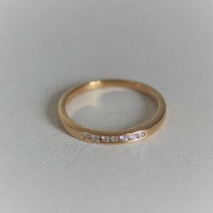Bague Alliance Or 18K 750 Diamants - 2grs- 54