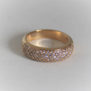 Bague Alliance Or 18K 750 Diamants - 2grs- 60