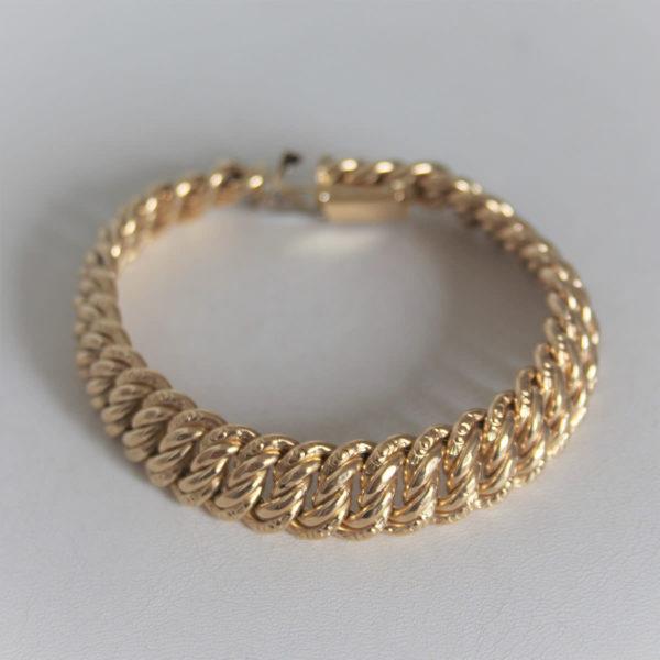 Bracelet  Or 750 maille américaine - 18.5cm -23.2grs