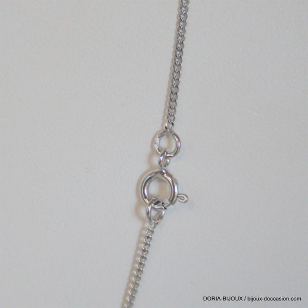 Chaîne Forçat Or Blanc 18k, 750 - 2.40grs - 40cm