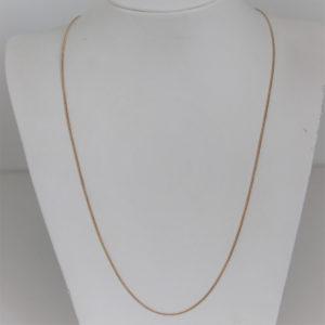 Chaine or 18k 750 Maille Serpentine 4.23grs -55cm