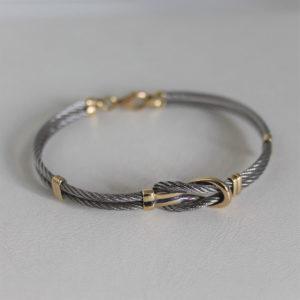 Bracelet Or 18k & Acier - 11.3grs