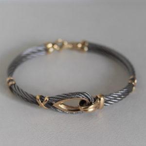 Bracelet Or 18k & Acier - 15.5grs