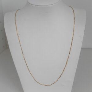 Chaine or 18k 750 maille fantaisie 5.33grs -60cm