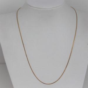 Chaine Or 18k 750 Maille Serpentine 6grs -46cm