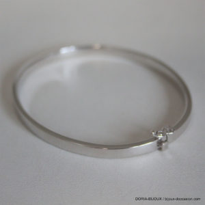Bracelet jonc ouvrant or GRIS 18k 750- 7.35grs