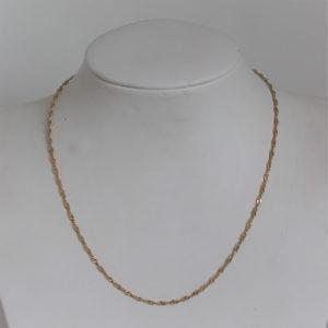 Chaine Or 18k 750 Torsade  2.4grs -37cm