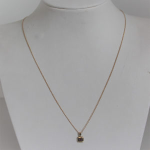 Collier Or 18k 750 Pendentif Rubis 1.6grs