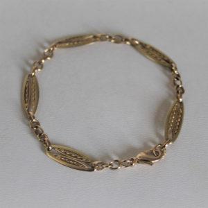 Bracelet  Or 750 maille fantaisie - 18.5cm -8.9grs