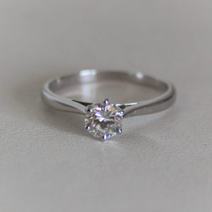 Bague Or 18k 750 Solitaire Diamant 0.50cts- 2.40grs