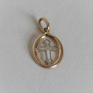Pendentif Religieux Croix Or 750 18k  0.7grs
