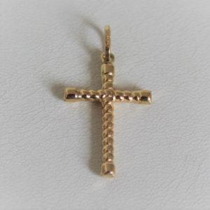 Pendentif Religieux Croix Or 750 - 18k - 1.3grs