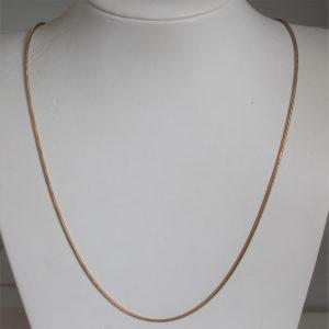 Chaine Maille Serpentine or 18k 750 - 6.55grs - 60cm