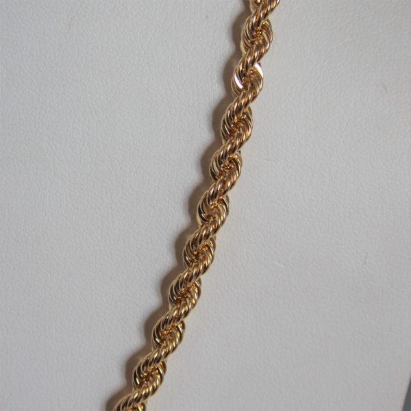 Chaine Maille Corde Or 18k 750 - 10.70grs- 45cm