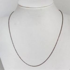 Chaine Maille Fantaisie Or Blanc 18k 750 - 42cm