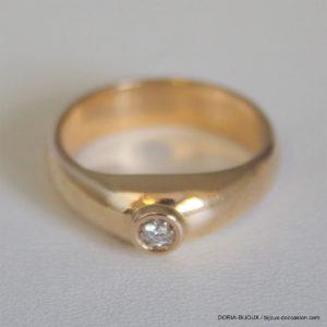 Bague Or Jonc Diamant 0.05 Carats 5.3grs - 53-