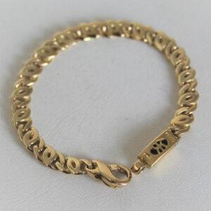 Bracelet  Or 750 maille fantaisie - 15.5cm -15.6grs