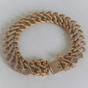 Bracelet  Or 750 maille fantaisie - 15.5cm -53.4grs