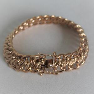 Bracelet  Or 750 Maille Américaine - 19.5cm -24.4grs