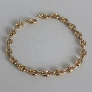 Bracelet  Or 750 18k Grain de Café - 20cm -9.8grs