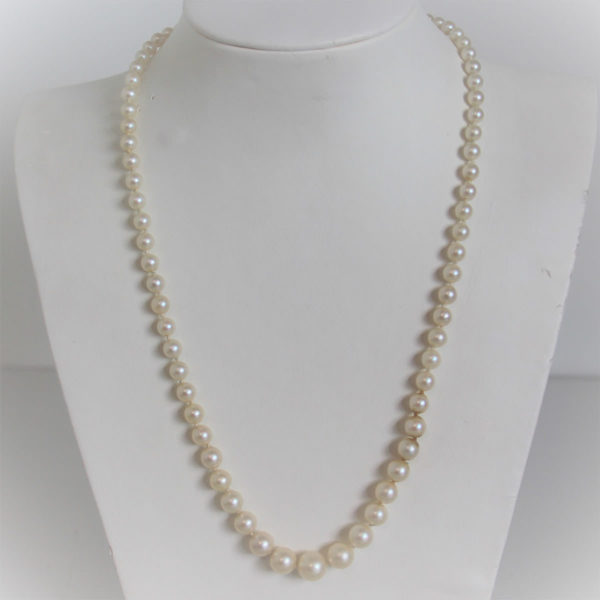 Collier Vintage Fermoir Or 18k 750 Perles - 50cm