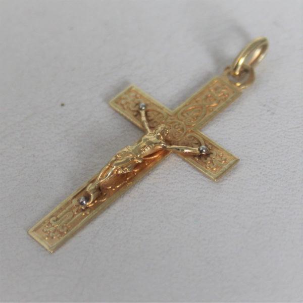 Pendentif Religieux Croix  Or 750 - 18k - 2.1grs