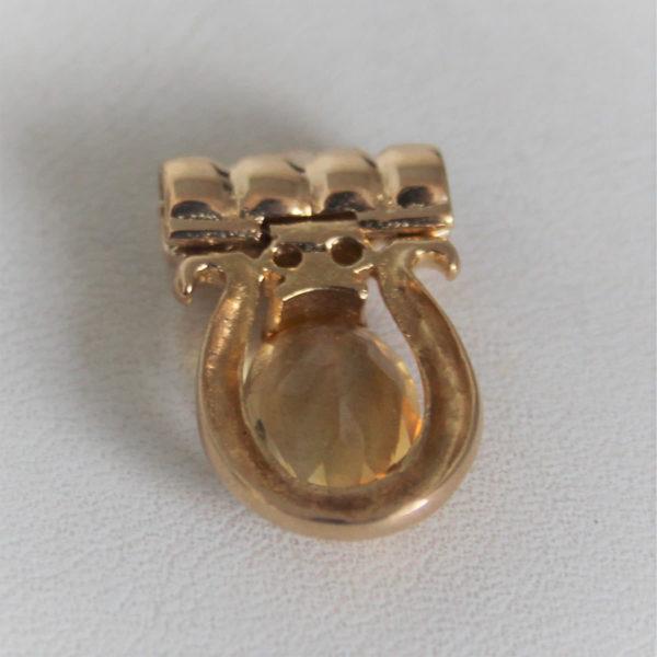 Pendentif Or 18K 750 Citrine & Diamants - 4.8GRS