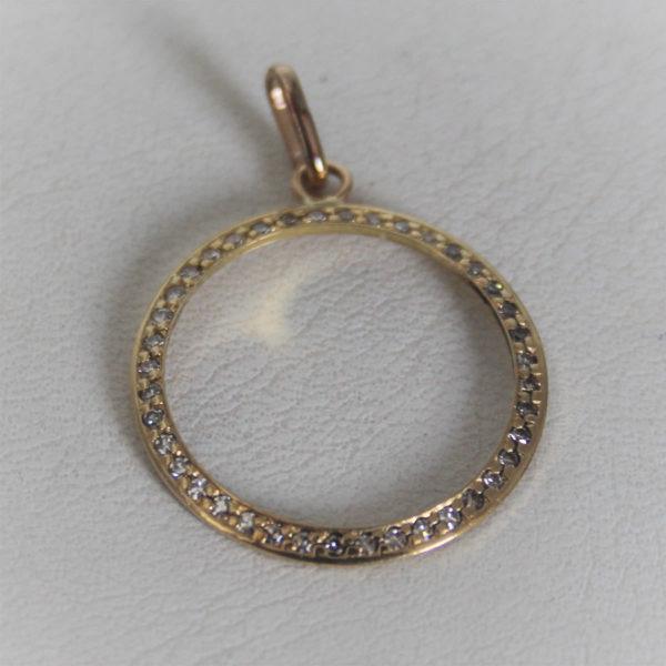 Pendentif Or 18K 750/000 Diamants - 1.4grs