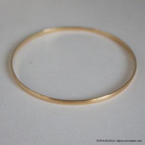 Bracelet Jonc Rigide Or Jaune 18k- 750/000 - 6.45grs