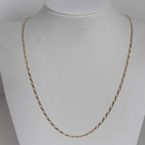Chaine Maille Alternée Or 18k 750 - 6.9Grs - 60cm