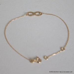 Bracelet Infini Or 750 Jaune -18cm - 1.20grs
