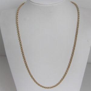 Chaine Or 18k 750 Maille Jaseron - 50cm - 23.90Grs