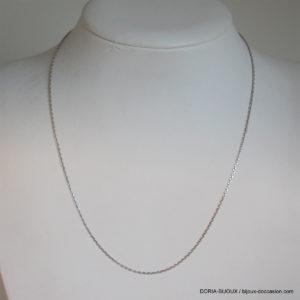 Chaîne forçat or blanc -38cm  - 1.95grs