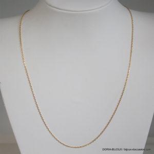 Chaîne Forçat Diamantée Or Jaune 18k, 750 - 2.90grs