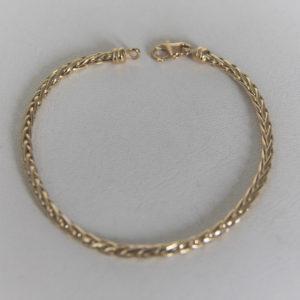 Bracelet Maille Palmier Or 18k 750 - 5.35grs - 18cm