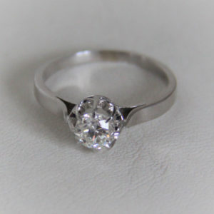 Bague Or 750 18k Solitaire Diamant 0.50cts - 2.5grs